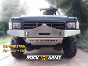 Pare chocs avant acier avec porte treuil et protection (modèle ARC) de marque Rock Army pour Nissan Patrol Y60