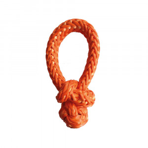 Manille souple Dyneema orange diamètre 6mm et largeur 30cm (rupture à 3,5t)