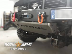 Protection avant sous pare chocs de marque Rock Army pour Nissan Patrol Y60 / K160 / K260