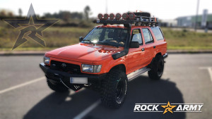 Pare chocs avant acier avec porte treuil (modèle 5C) de marque Rock Army pour Toyota 4Runner