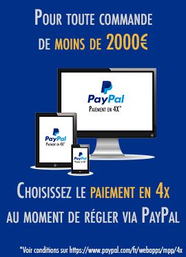 Profitez du paiement PayPal en 4x sur Leader4x4.com, pour toute commande de moins de 2000€