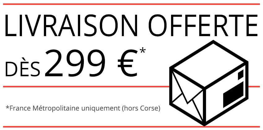 Profitez de la livraison offerte sur Leader4x4 et fait vous livrer gratuitement partout en France hexagonale dès 299e d'achat sur notre site