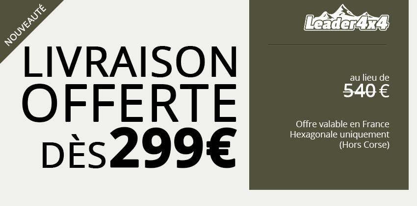 Profitez de la livraison offerte et faîtes vous livrer gratuitement partout en France hexagonale dès 299€ d'achat sur notre site